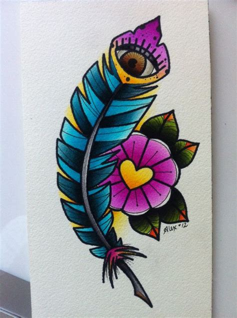 watercolor tattoo vs regular tattoo original alex strangler feather eye painting artfully