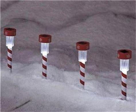 solar candy canes fir driveway set of 4 solar light stakes garden walkway driveway ebay