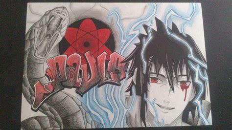 wallpaper graffiti naruto sasuke uchiha sharingan and graffiti by evangelioninferno