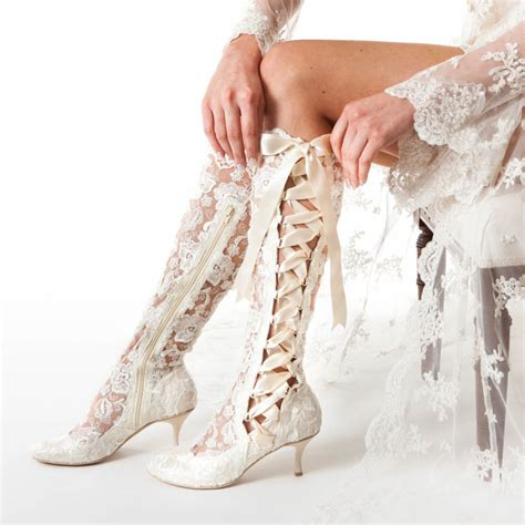 Wedding Boots by Vintage Wedding Boots And Shoes House Of Elliot