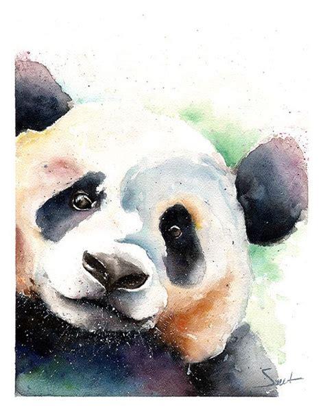 watercolor tattoos panda panda painting watercolor panda original by