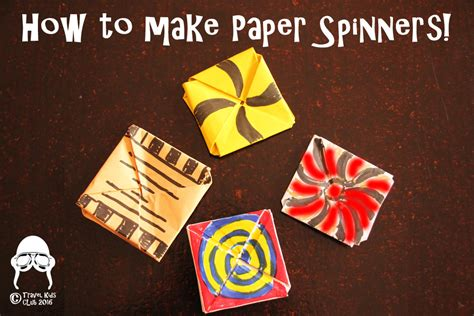 How To Make Paper Spinners - activities how to make paper spinners travel club