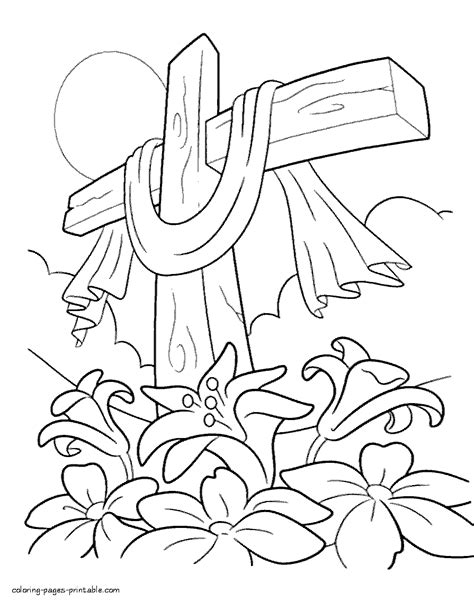 coloring pictures of easter lilies easter cross coloring page tiger coloring