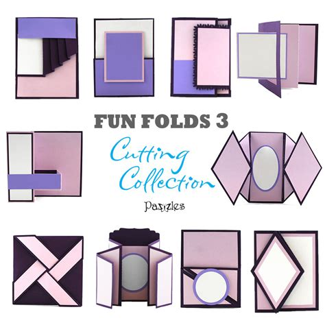 how to make folded cards folds 3 cutting collection wpc svg and ai pazzles