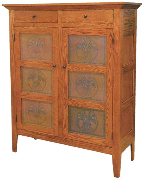 shaker 45 inch pie safe ohio hardwood furniture