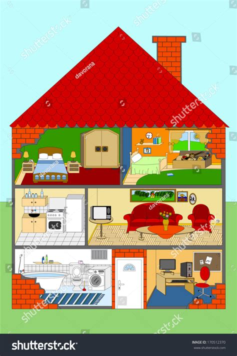 rooms in the house all rooms house rooms homes vector stock vector 170512370