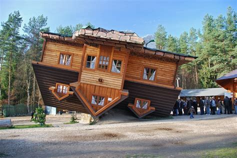 upside down house poland upside down houses around the world amusing planet