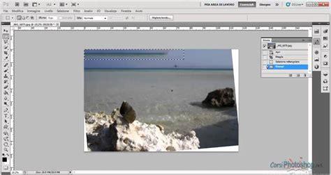 tutorial photoshop cs5 italiano raddrizzare con la taglierina e clonare col riempi