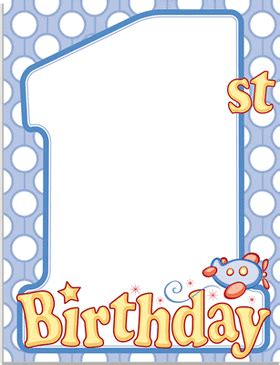 printable juvenile birthday cards invitations birthday children juvenile 1st birthday 1st