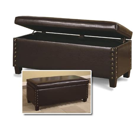 deep storage bench wood furnitures 24 deep brown storage bench leatherette