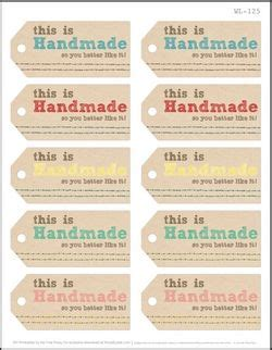 Handmade Labels - 75 free printable labels make it handmade