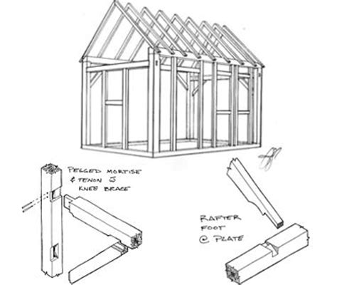 Shed Drawing by How To Draw Building Plans For A Shed Goehs