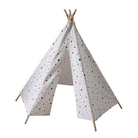 Bien Decoration Chambre Ado Fille #7: tipi-enfant-motifs-triangles-et-etoiles-h-145-cm-graphikids-1000-7-34-159688_1.jpg