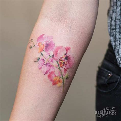 watercolor flowers tattoo 27 breathtaking watercolor flower tattoos stayglam