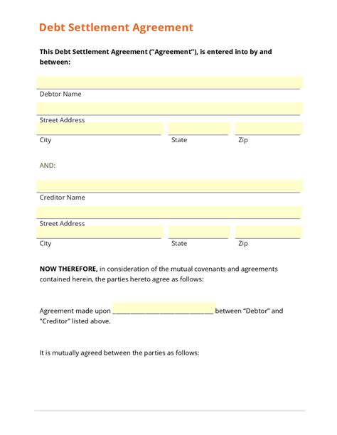 debt agreement sle coles thecolossus co