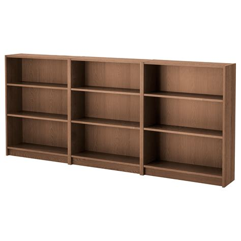 billy bookcase brown ash veneer 240x106x28 cm ikea