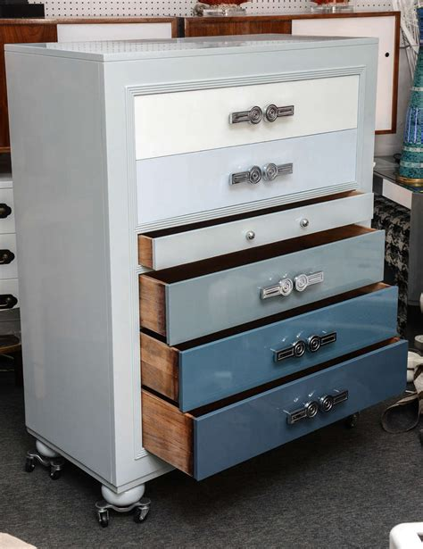 National Furniture Company by 1920s Shades Of Blue Chester Drawers By Rockford National