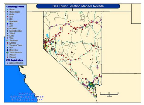 cell tower map cell tower location maps for each state cell tower