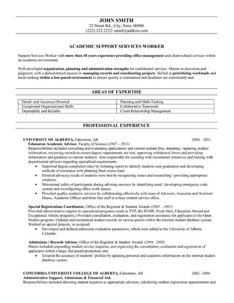 Template For Academic Resume by Academic Advisor Resume Template Premium Resume Sles Exle