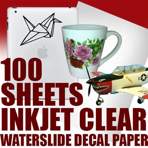 How To Make Waterslide Decal Paper - 5 sheets clear inkjet waterslide decal paper ebay