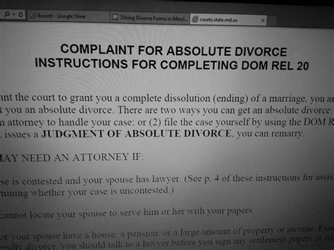 Divorce Records Maryland How To Get A Divorce In Maryland Pdf File