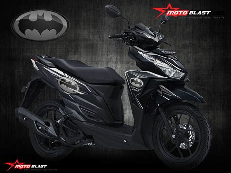 Striping Sticker Vario 150 125 New Sonic 1 modif striping honda vario 150 black tema batman