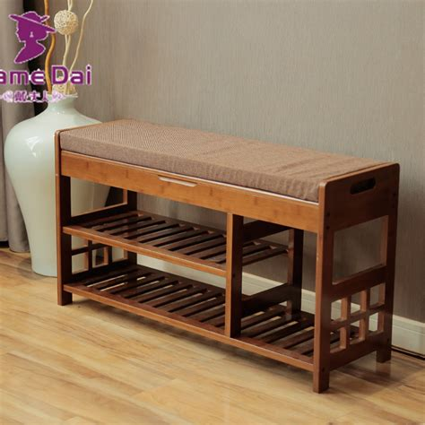 hallway bench with storage aliexpress com buy bamboo shoe rack storage organizer