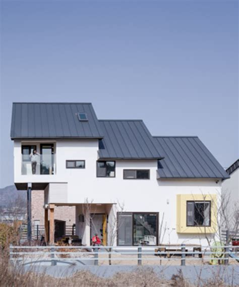 buy a house in korea kddh designs a house within a small lot in korea using a skip floor plan layout