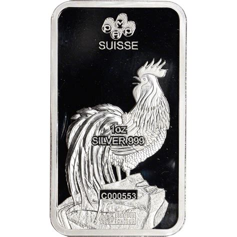 1 oz silver bar p suisse year of the monkey 1 oz silver bar p suisse lunar year of the rooster