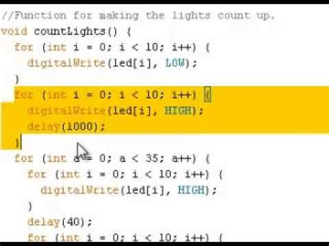 arduino tutorial array arduino tutorial lights array youtube