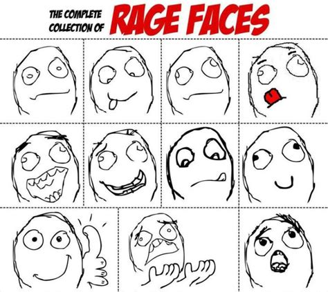 complete collection  rage faces  pics
