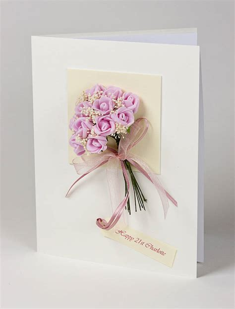3d greeting card personalised bouquet 3d greetings card by karrie