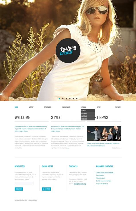 Fashion Store Website Template 35953 Fashion Store Website Templates