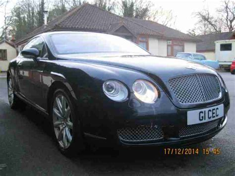 bentley 2004 continental gt auto blue 1 owner low mileage