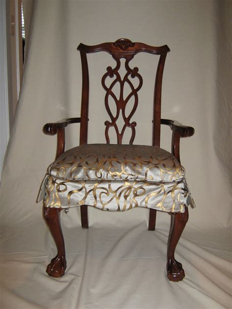 Dining Room Chair Seat Covers Interior Brown Fabric Sure Fit Dining Room Chair