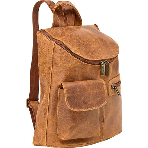 backpack purses leather le donne leather distressed leather womens backpack handbag new ebay