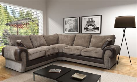 tango fabric corner sofa 2a1 beige brown