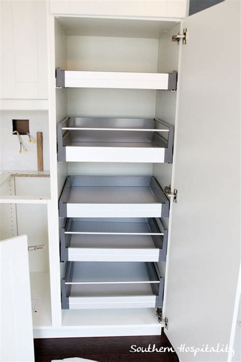 ikea pull out shelves week 18 house renovation stainless steel and white