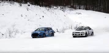 Subaru Snow 2016 Ford Focus Rs Pitted Against Rally Grade Subaru