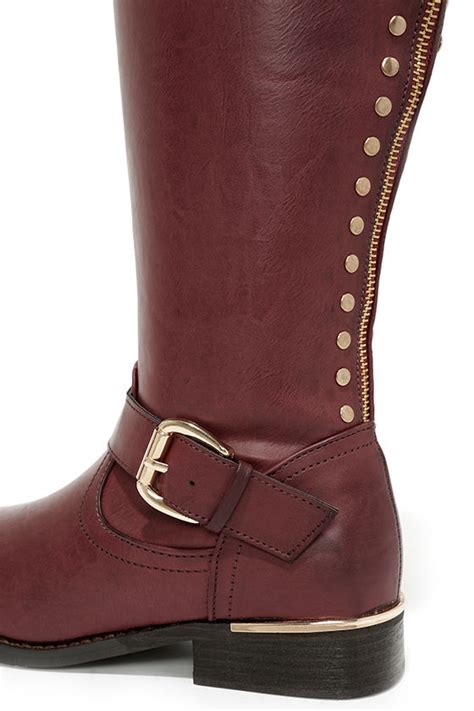 burgundy boots knee high boots boots 73 00