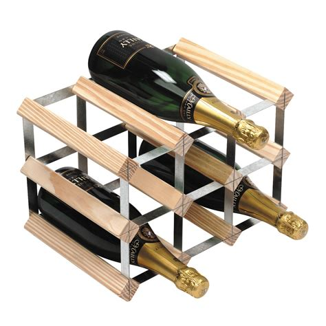 How To Rack 9 by 9 Bottle Traditional Wooden Wine Rack 3x2