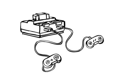 dibujos realistas videojuegos dibujo para colorear consola de videojuegos img 9621