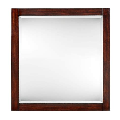 home decorators collection mirrors home decorators collection 32 in x 30 in framed mirror in walnut 0249810820 the