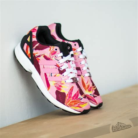 adidas zx flux light pink black footshop