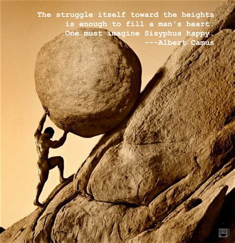 the image of sisyphus pushing rock up a hill