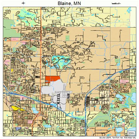 blaine minnesota map 2706382