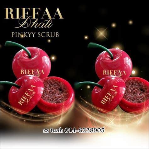 Scrub Bibir riffaa d hati scrub bibir merah jambu semulajadi
