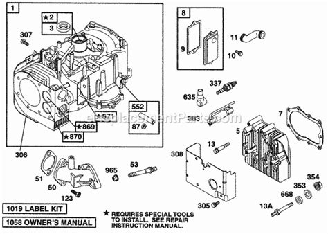 briggs  stratton    parts list  diagram ereplacementpartscom