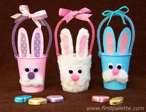 Paper Cup Craft Ideas - paper cup bunny basket craft crafts firstpalette