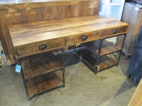 wood and iron desk iron and wood desk nadeau raleigh